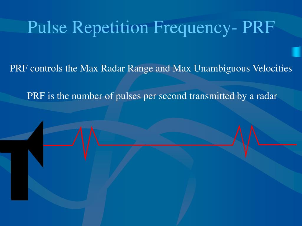 Pulse Repetition Frequency- PRF