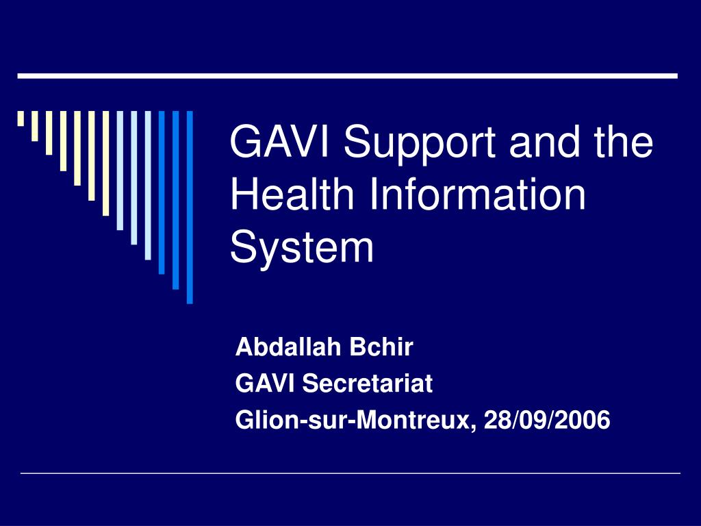 gavi support and the health information system l.