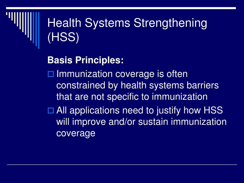 Health Systems Strengthening (HSS)