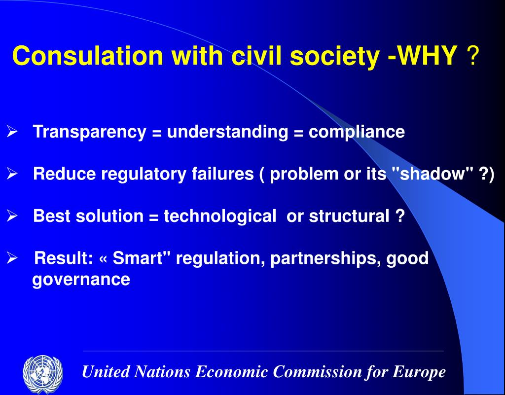 Consulation with civil society -WHY