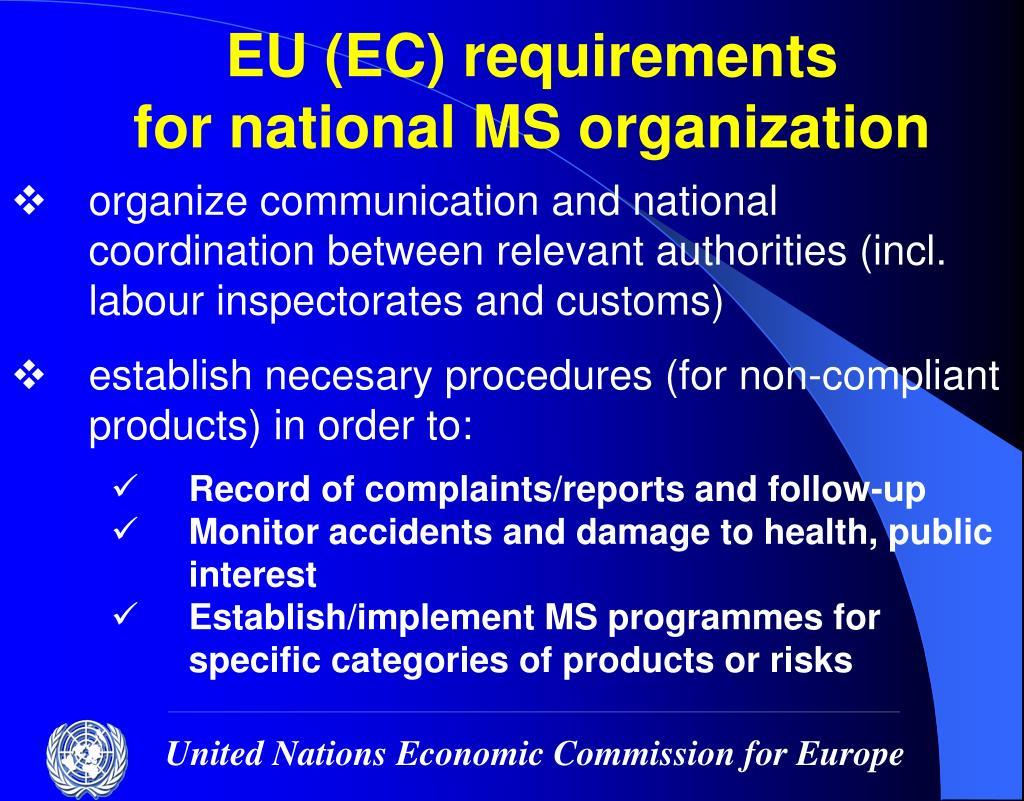 EU (EC) requirements