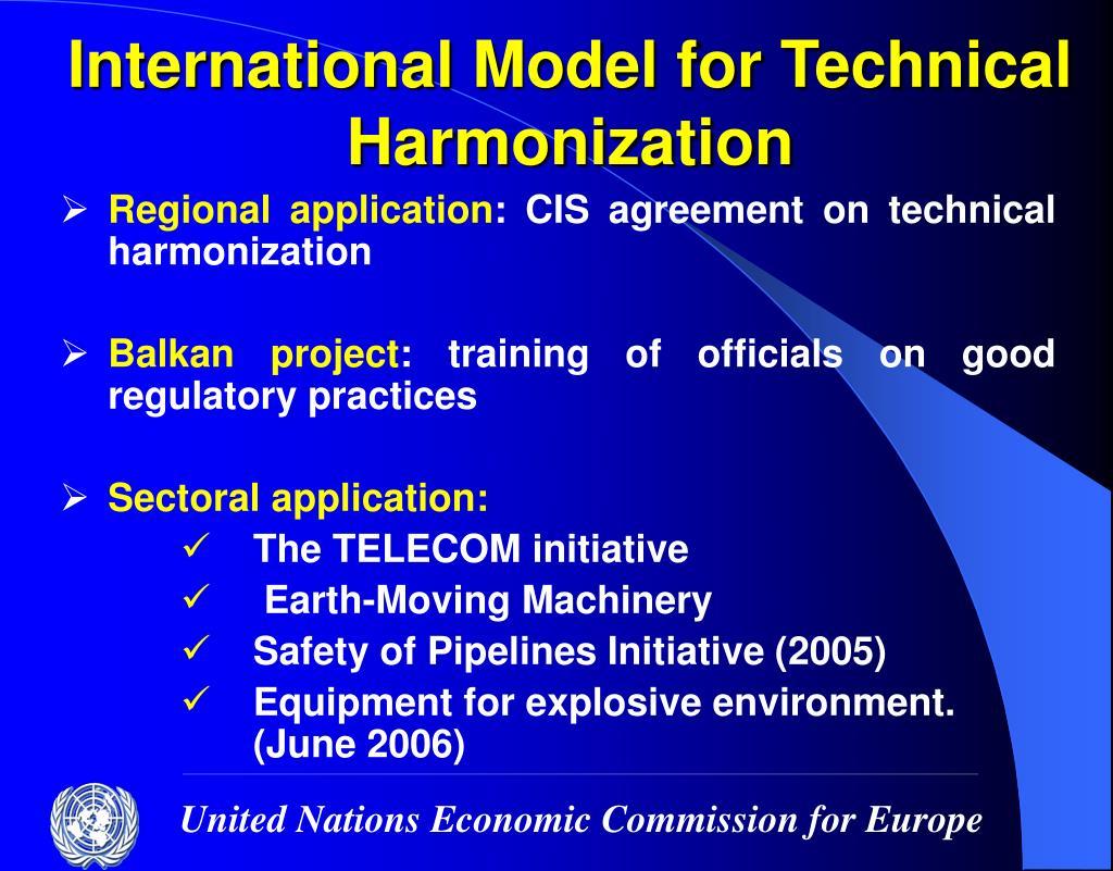 International Model for Technical Harmonization