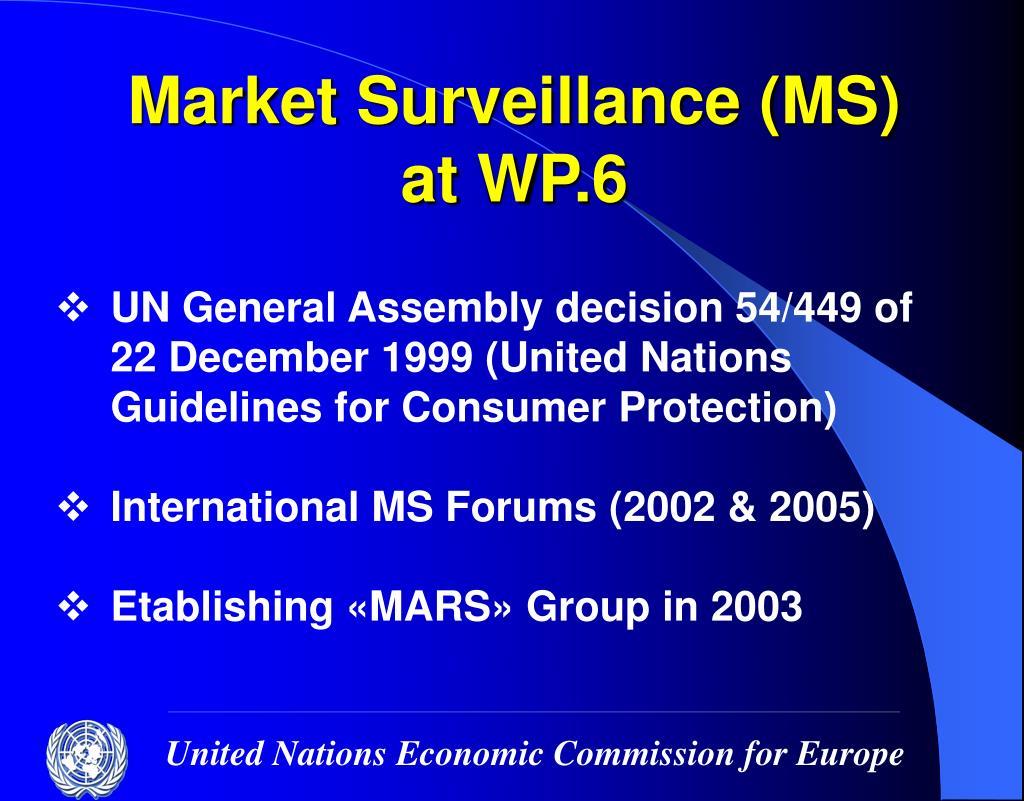 Market Surveillance (MS)