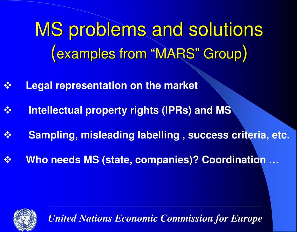 MS problems and solutions