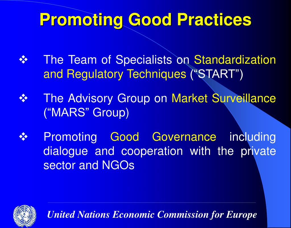 Promoting Good Practices