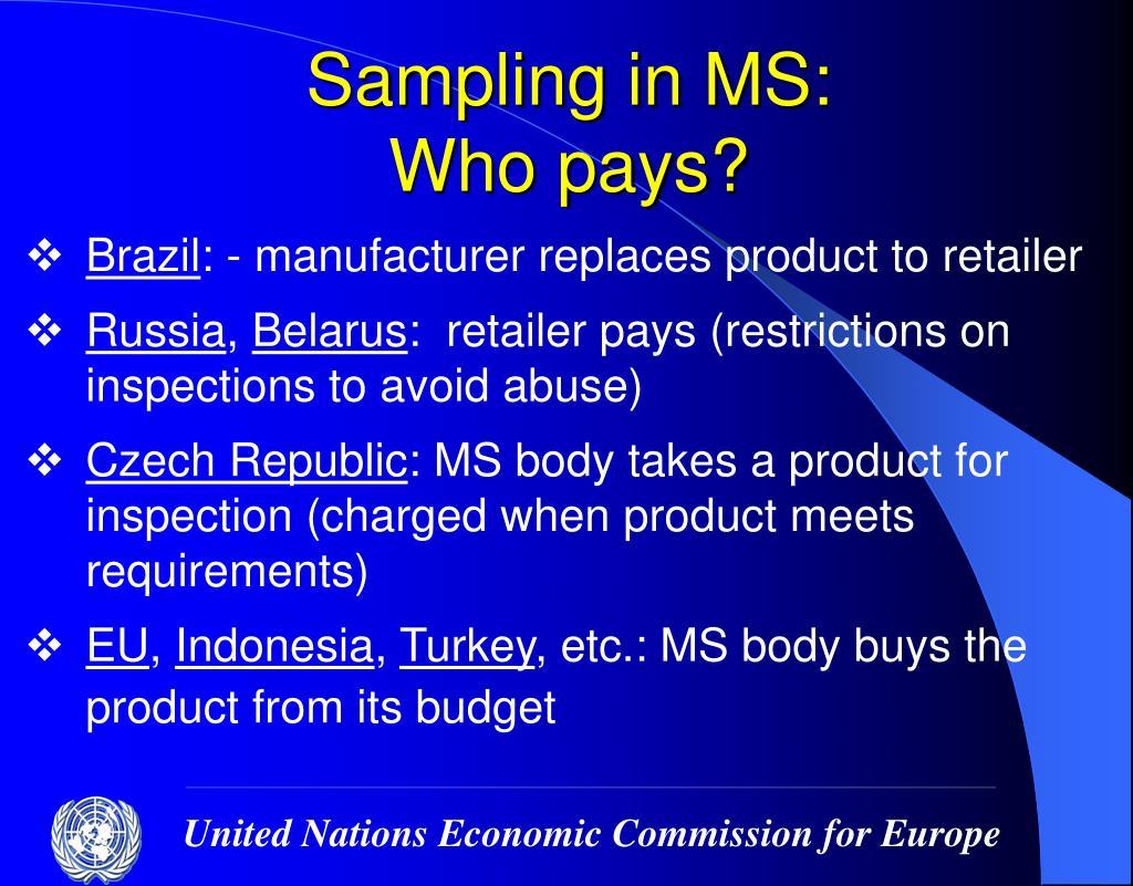 Sampling in MS: