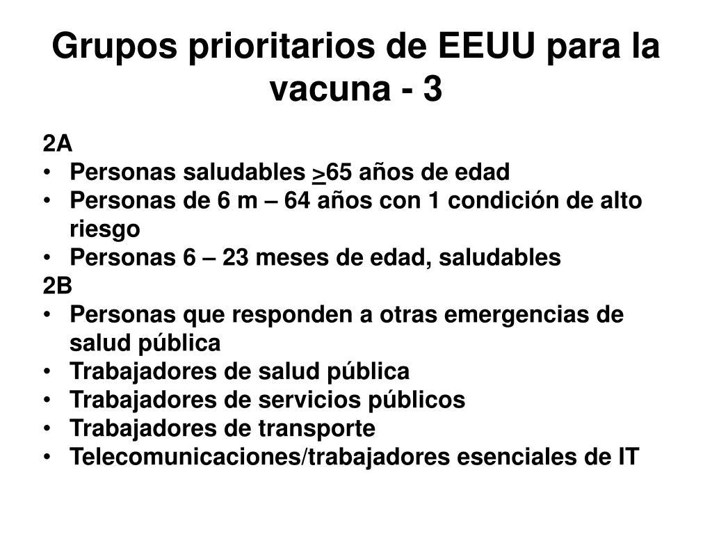 Grupos prioritarios de EEUU para la vacuna - 3