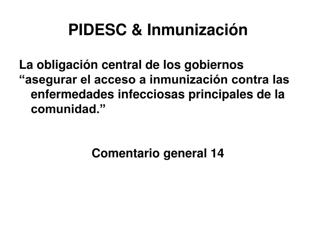 PIDESC & Inmunización