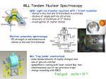 mll tandem nuclear spectroscopy
