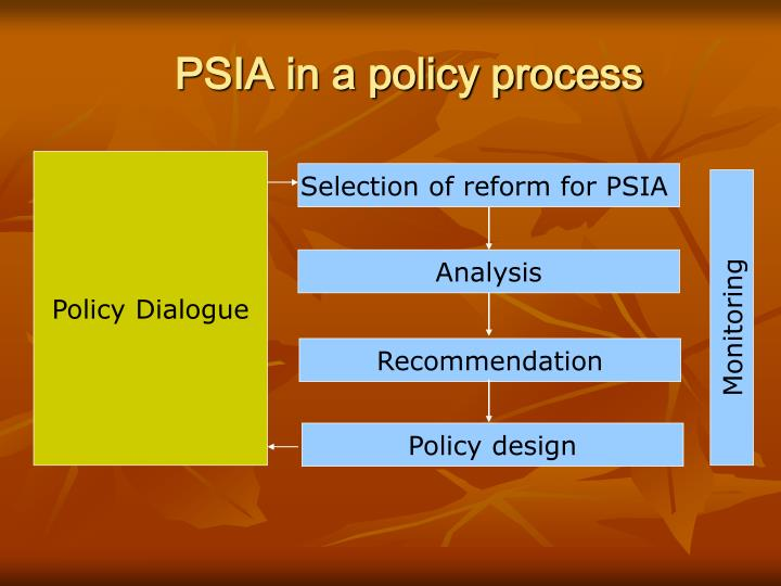 PSIA in a policy process