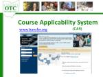 course applicability system