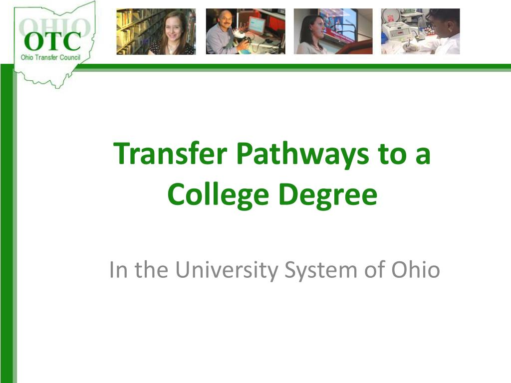 transfer pathways to a college degree l.
