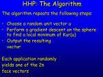 hhp the algorithm