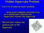 hidden hypercube problem