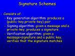 signature schemes