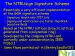 the ntrusign signature scheme