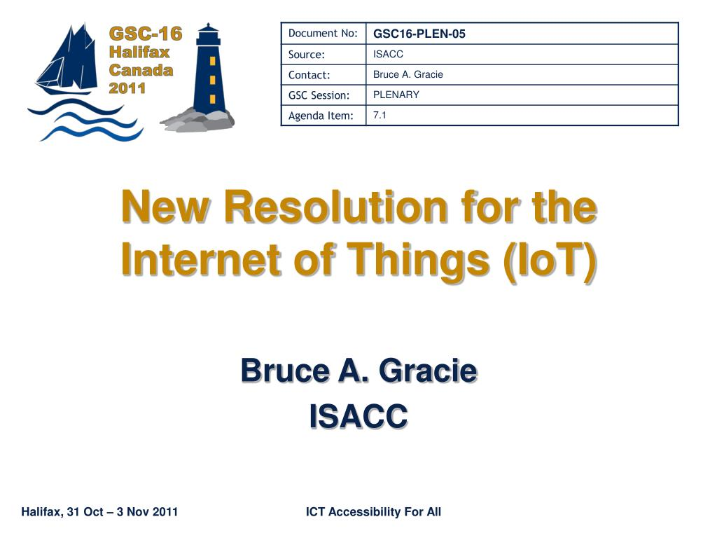 new resolution for the internet of things iot l.