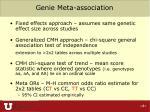 genie meta association