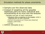 simulation methods for phase uncertainty
