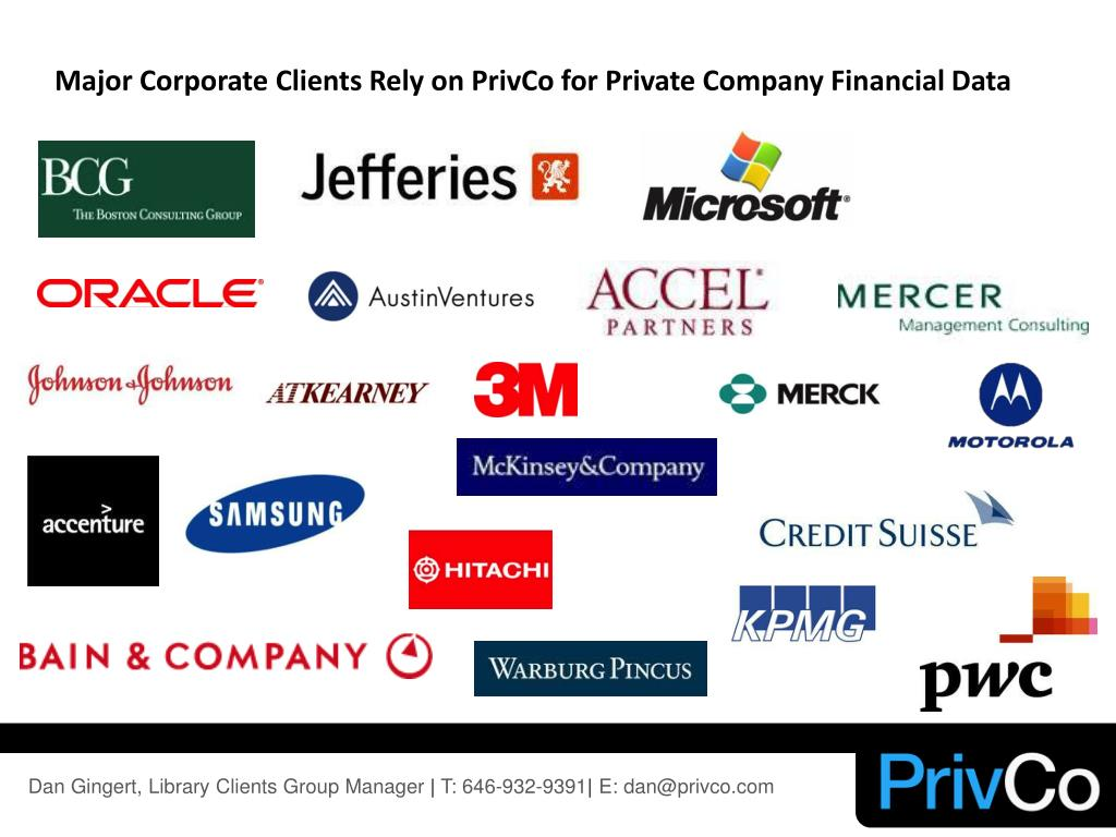 Major Corporate Clients Rely on PrivCo for Private Company Financial Data