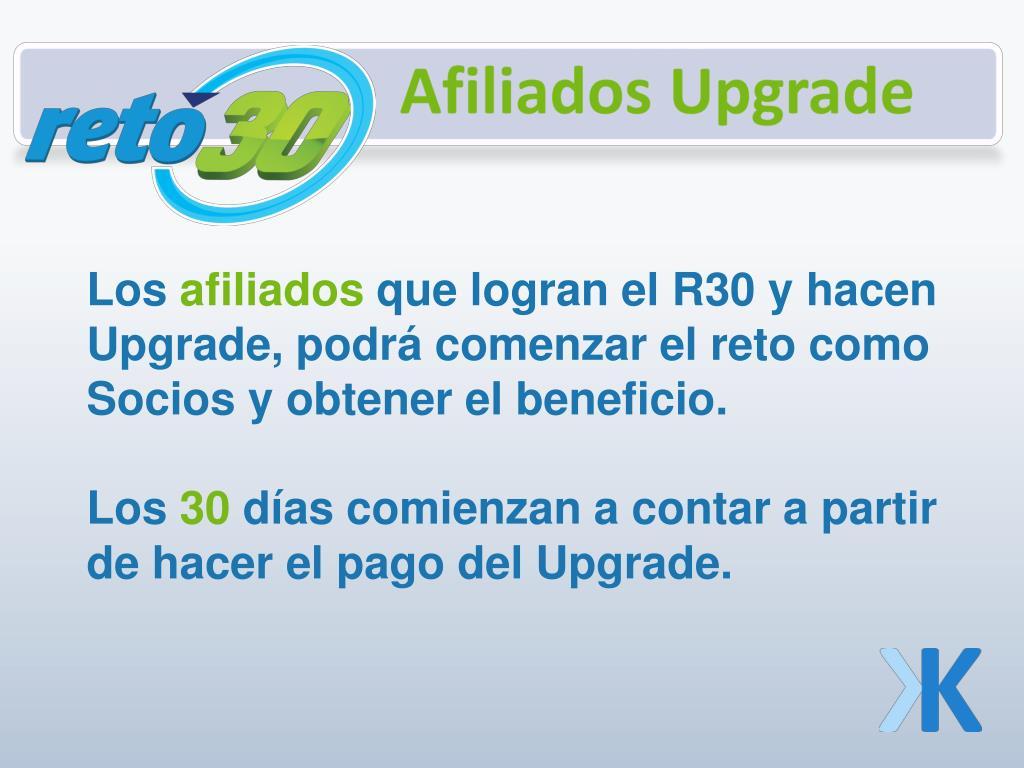 Afiliados Upgrade