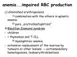 anemia impaired rbc production
