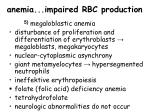 anemia impaired rbc production20