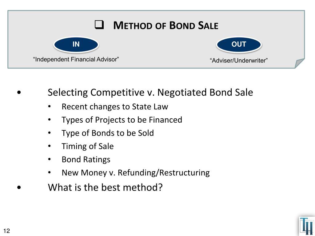 Method of Bond Sale