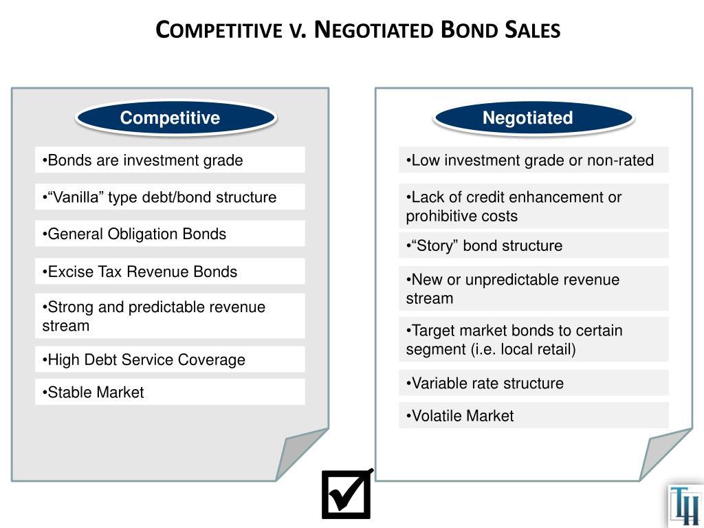 Competitive v. Negotiated Bond Sales