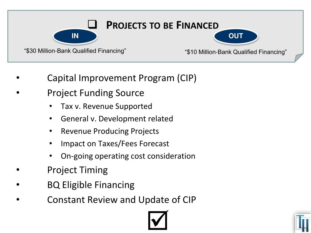 Projects to be Financed