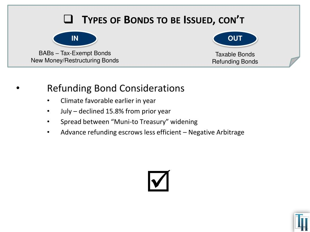 Types of Bonds to be Issued,