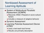 nonbiased assessment of learning aptitude