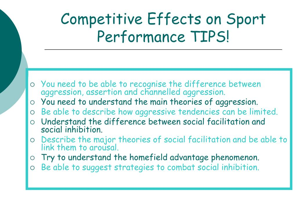 Competitive Effects on Sport Performance TIPS!