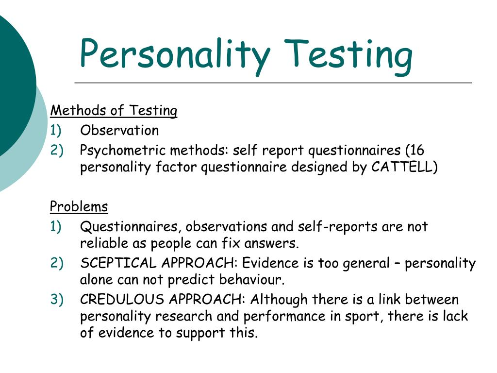 Personality Testing