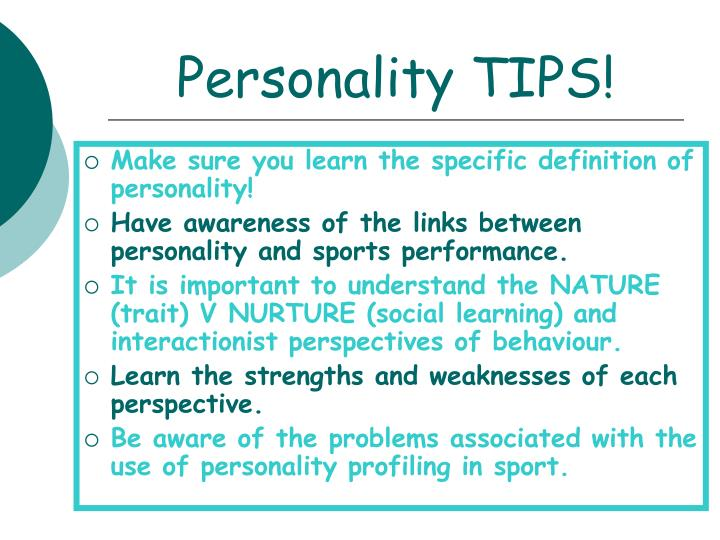 Personality tips
