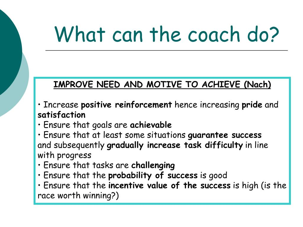 What can the coach do?
