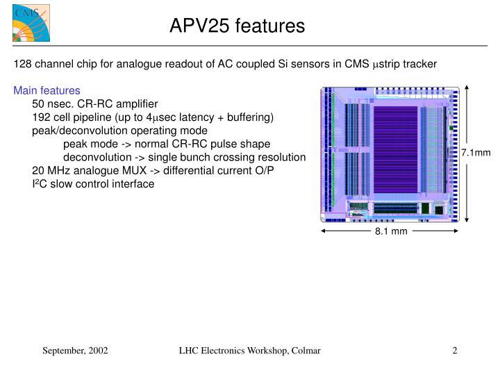 APV25 features