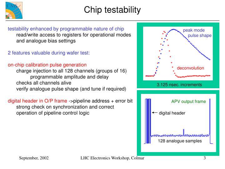 Chip testability