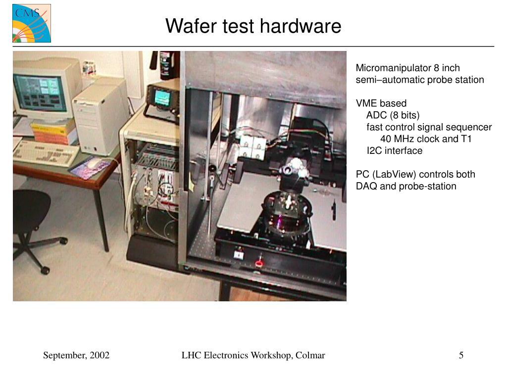 Wafer test hardware