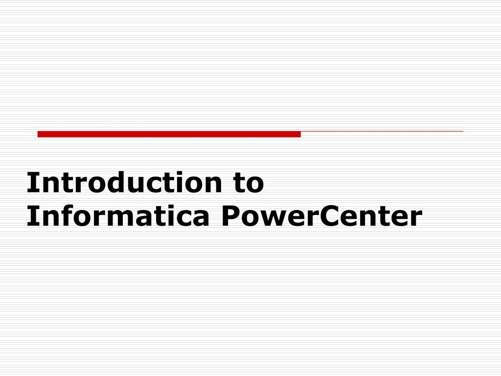 introduction to informatica powercenter l.