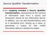 source qualifier transformation