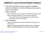 comstac launch demand model feedback