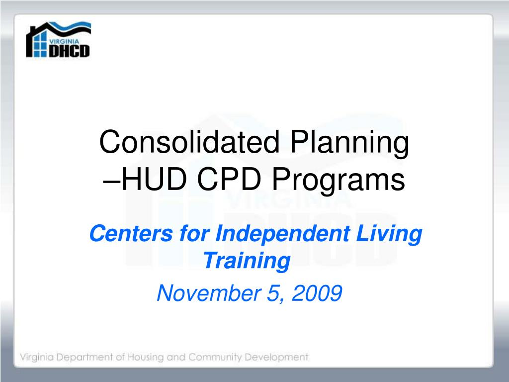 consolidated planning hud cpd programs l.