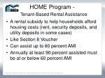 home program tenant based rental assistance