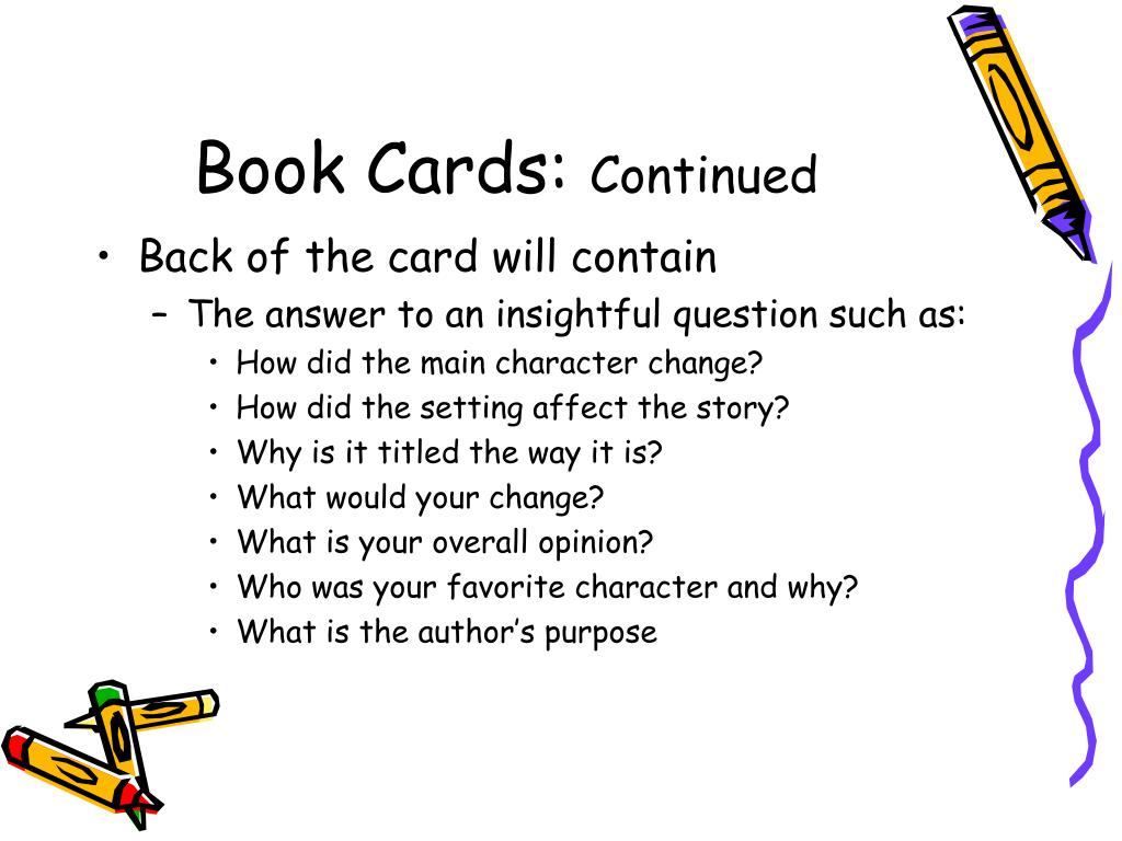 Book Cards:
