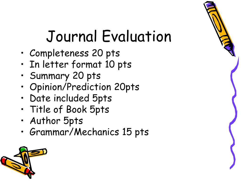 Journal Evaluation