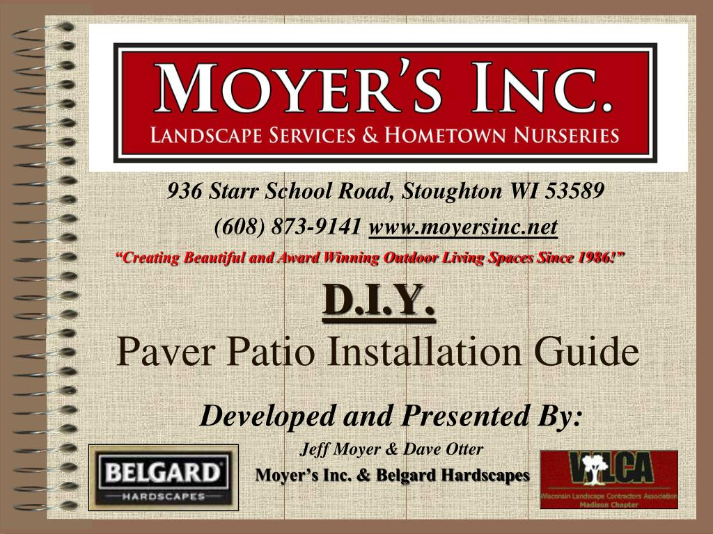 d i y paver patio installation guide l.