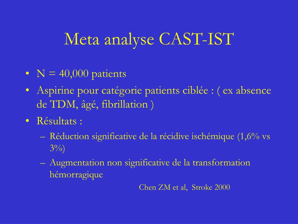 Meta analyse CAST-IST