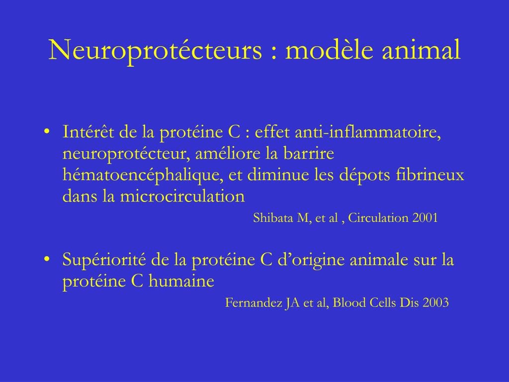 Neuroprotécteurs : modèle animal