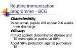 routine immunization programme bcg